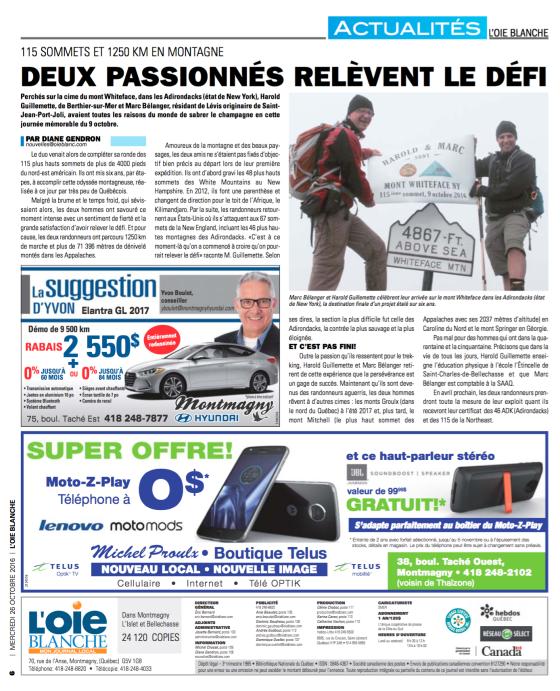 L'Oie Blanche, 26 octobre 2016, p.6